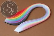 """100 pcs. 10-color-mix Quilling Paper-Strips """"Gradient"""" ~3mm-20"""