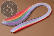 """100 pcs. Mix Quilling Paper-Strips """"Two-Tone"""" ~3mm-20"""