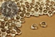 """20 pcs. medium-sized clear Czech """"Drop"""" glass beads 7mm-20"""