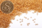 50 pcs. golden-colored jumprings 4mm-20