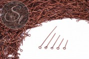 20g copper-colored eyepins mixed sizes-20