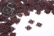 20 pcs. antique copper-colored filigree flower metal elements 13mm-20