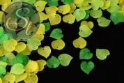 """20 pcs. acrylic-leaves mix """"spring"""" frosted-20"""