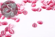 5 pcs. rose drop-shaped cateye cabochons 10mm-20