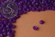 20 pcs. dark lilac acrylic-flowers frosted 10mm-20