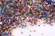 20g glass seed beads mix ~1.9-35mm-20