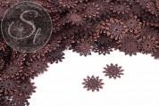 20 pcs. antique copper-colored filigree metal elements 20mm-20