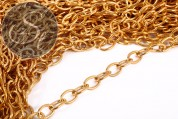 1 meter golden-colored oval chain 14mm-20