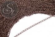 2 pcs. 48cm antique bronze-colored oval chain 5mm-20