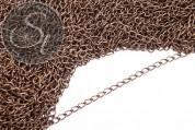 2 pcs. 47cm antique bronze-colored oval chain 5mm-20
