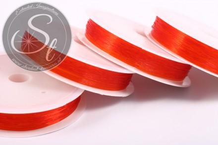 15m roter elastischer Nylonfaden 0,6mm-31