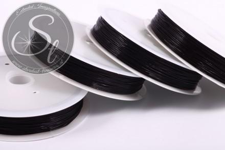 15m schwarzer elastischer Nylonfaden 0,6mm-31