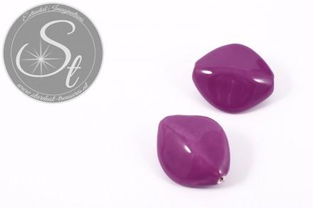 1 Stk. große lila ovale Porzellan Perle 31,5mm-31