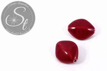 1 Stk. große dunkelrote ovale Porzellan Perle 31,5mm-31
