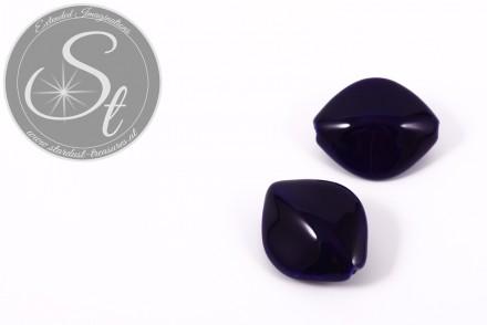 1 Stk. große dunkelblaue ovale Porzellan Perle 31,5mm-31