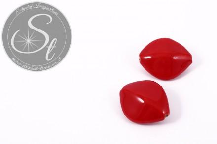 1 Stk. große rote ovale Porzellan Perle 31,5mm-31