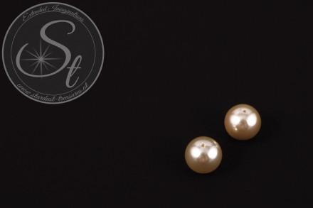 4 Stk. hellgelbe runde Südsee Muschel Perlen 10mm-31