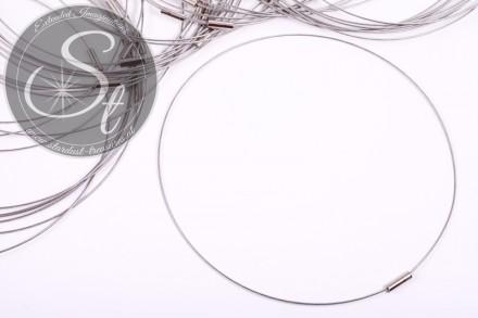 1 Stk. silbernes Edelstahl-Collier ~43cm-31