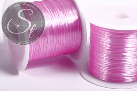 12m rosa elastischer Nylonfaden 0,8mm-31