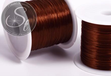 12m brauner elastischer Nylonfaden 0,8mm-31