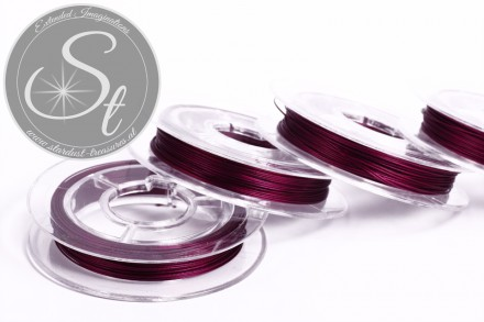 10m violetter Schmuckdraht 0,38mm-31