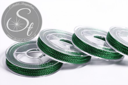 10m metallische grüne Schmuckschnur ~0,8-1mm-31