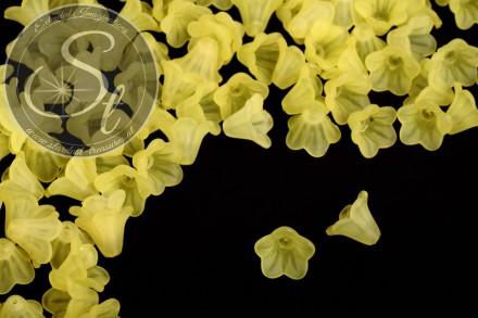 20 Stk. gelbe Acryl-Blüten frosted 14mm-31