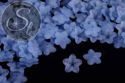 20 Stk. blaue Acryl-Blüten frosted 18mm-31