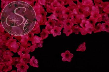 20 Stk. pinke Acryl-Blüten frosted 13mm-31