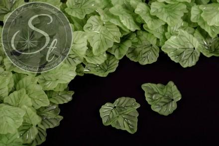 20 Stk. grüne Lucite-Blätter frosted 24mm-31