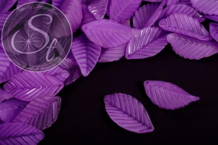 10 Stk. lila Acryl-Blätter frosted 35mm-31