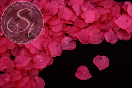 20 Stk. pinke Acryl-Blätter frosted 16mm-31