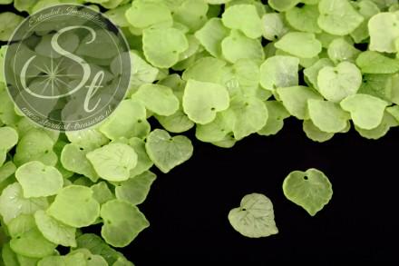 20 Stk. grüne Acryl-Blätter frosted 16mm-31