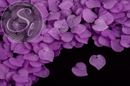 20 Stk. lila Acryl-Blätter frosted 16mm-31