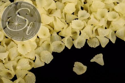 20 Stk. gelbe Acryl-Blüten frosted 12mm-31