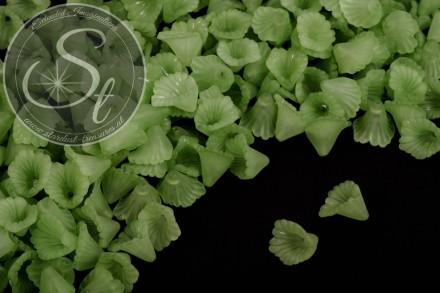 20 Stk. grüne Acryl-Blüten frosted 12mm-31