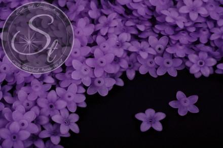 20 Stk. lila Acryl-Blüten frosted 17mm-31