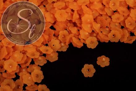 20 Stk. orange Acryl-Blüten frosted 12mm-31