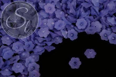 20 Stk. dunkelblaue Lucite-Blüten frosted 12mm-31
