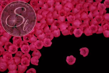 20 Stk. pinke Lucite-Blüten frosted 10mm-31