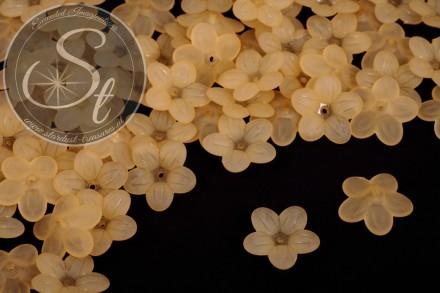 20 Stk. orange Acryl-Blüten frosted 20mm-31