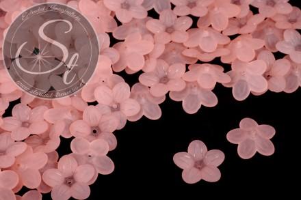 20 Stk. lachsfarbene Acryl-Blüten frosted 20mm-31