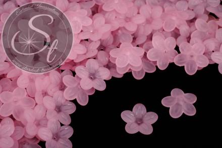 20 Stk. rosa Acryl-Blüten frosted 20mm-31