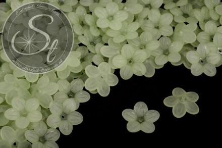 20 Stk. grüne Acryl-Blüten frosted 20mm-31