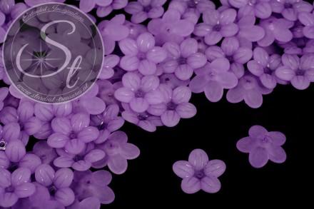 20 Stk. lila Acryl-Blüten frosted 20mm-31
