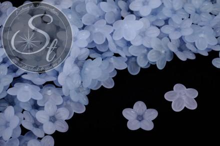 20 Stk. hellblaue Acryl-Blüten frosted 20mm-31