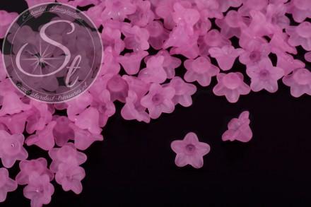 20 Stk. rosalila Acryl-Blüten frosted 10mm-31