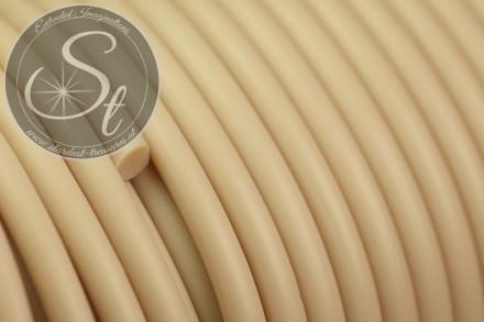 0,5 Meter beige synthetik-Kautschuk Kordel 3mm-31
