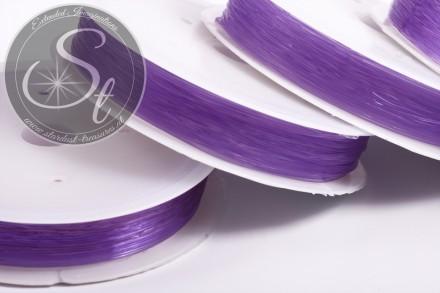 15m lila elastischer Nylonfaden 0,6mm-31