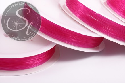 15m pinker elastischer Nylonfaden 0,6mm-31